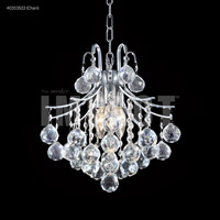 Cascade 3 Light 12 inch Silver Mini Chandelier Ceiling Light, Convertible to Pendant