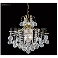 Cascade 4 Light 16 inch Gold Mini Chandelier Ceiling Light, Convertible to Pendant