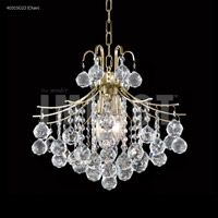 Cascade 4 Light 16 inch Silver Mini Chandelier Ceiling Light, Convertible to Pendant
