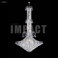 James R. Moder 40319S11 Cascade 19 Light 45 inch Silver Entry Chandelier Ceiling Light