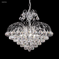 James R. Moder 40327S11 Cascade Collection 7 Light 20 inch Silver Chandelier Ceiling Light