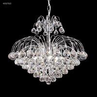 James R. Moder 40327S22 Cascade 7 Light 20 inch Silver Mini Chandelier Ceiling Light