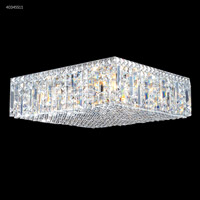 James R. Moder 40345S11 Contemporary 12 Light 20 inch Silver Flush Mount Ceiling Light