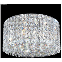 James R. Moder 40383S00 Contemporary 3 Light 14 inch Silver Flush Mount Ceiling Light