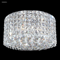 James R. Moder 40383S11 Contemporary 3 Light 14 inch Silver Flush Mount Ceiling Light