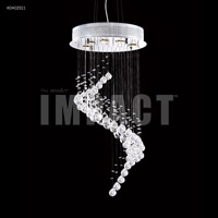 James R. Moder 40402S11 Crystal Rain Collection 5 Light 17 inch Silver Chandelier Ceiling Light