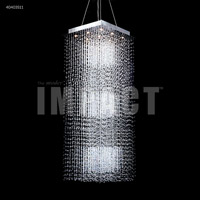 James R. Moder 40403S11 Crystal Rain 9 Light 26 inch Silver Crystal Chandelier Ceiling Light