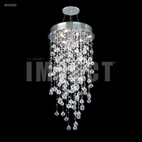 James R. Moder 40411S22 Crystal Rain Collection 6 Light 20 inch Silver Chandelier Ceiling Light