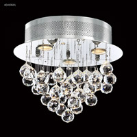 James R. Moder 40413S11 Crystal Rain Collection 3 Light 14 inch Silver Flush Mount Ceiling Light