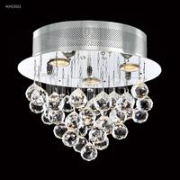 James R. Moder 40413S22 Crystal Rain Collection 3 Light 14 inch Silver Flush Mount Ceiling Light
