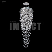 James R. Moder 40414S11 Crystal Rain Collection 8 Light 24 inch Silver Entry Chandelier Ceiling Light