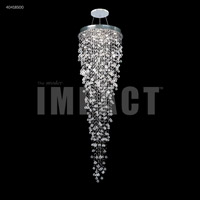 James R. Moder 40418S00 Spring Rain 12 Light 32 inch Silver Entry Chandelier Ceiling Light