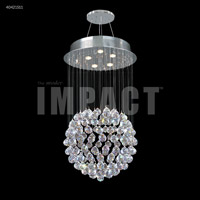 James R. Moder 40421S11 Crystal Rain Collection 5 Light 18 inch Silver Chandelier Ceiling Light