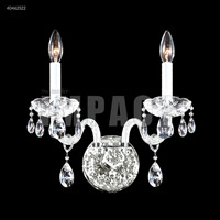 James R. Moder 40462S22 Palace Ice 2 Light Silver Wall Sconce Wall Light