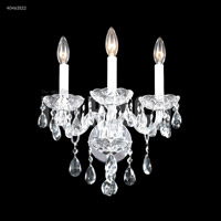James R. Moder 40463S22 Palace Ice 3 Light Silver Wall Sconce Wall Light