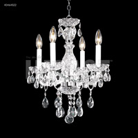 James R. Moder 40464S22 Palace Ice Collection 4 Light 16 inch Silver Chandelier Ceiling Light