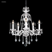 James R. Moder 40465S11 Palace Ice Collection 5 Light 21 inch Silver Chandelier Ceiling Light