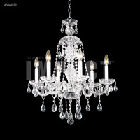 James R. Moder 40466S22 Palace Ice 6 Light 24 inch Silver Chandelier Ceiling Light