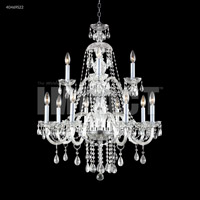James R. Moder 40469S22 Palace Ice 12 Light 28 inch Silver Chandelier Ceiling Light