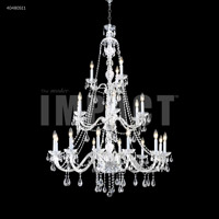 James R. Moder 40480S11 Palace Ice 21 Light 39 inch Silver Chandelier Ceiling Light