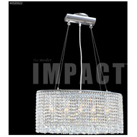 James R. Moder 40520S22 Contemporary 5 Light 9 inch Silver Mini Chandelier Ceiling Light