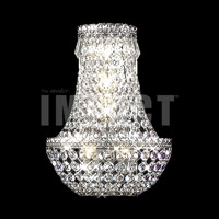 James R. Moder 40531S11 Imperial 3 Light 11 inch Silver Wall Sconce Wall Light Impact