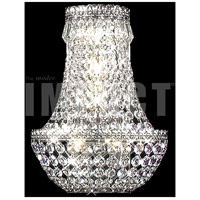 James R. Moder 40531S11 Imperial 3 Light Silver Wall Sconce Wall Light Impact
