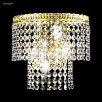 James R. Moder 40534G00 Imperial 2 Light Gold Wall Sconce Wall Light Impact