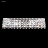 James R. Moder 40536S11 Imperial 4 Light Silver Vanity Bar Wall Light Impact