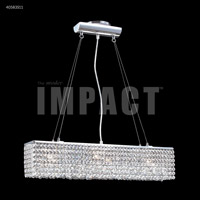 James R. Moder 40583S11 Contemporary 3 Light 26 inch Silver Linear Chandelier Ceiling Light