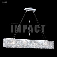 James R. Moder 40586S22 Contemporary 4 Light 5 inch Silver Crystal Chandelier Ceiling Light
