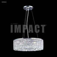 James R. Moder 40593S11 Contemporary 6 Light 17 inch Silver Crystal Chandelier Ceiling Light