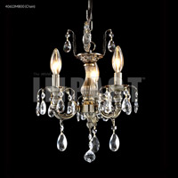 James R. Moder 40613MB00 Brindisi 3 Light 12 inch Monaco Bronze Mini Chandelier Ceiling Light Convertible to Pendant