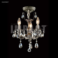 Brindisi 3 Light 12 inch Monaco Bronze Mini Chandelier Ceiling Light, Convertible to Pendant
