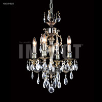James R. Moder 40614S0T Brindisi 4 Light 14 inch Silver Mini Chandelier Ceiling Light