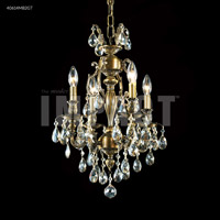 James R. Moder 40614MB2GT Brindisi 4 Light 14 inch Monaco Bronze Mini Chandelier Ceiling Light