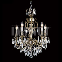 James R. Moder 40615MB11 Brindisi 5 Light 20 inch Monaco Bronze Mini Chandelier Ceiling Light