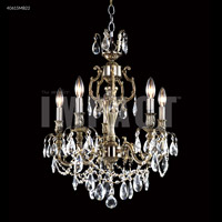 James R. Moder 40615S11 Brindisi Collection 5 Light 20 inch Silver Chandelier Ceiling Light