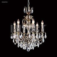 James R. Moder 40616MB11 Brindisi 6 Light 21 inch Monaco Bronze Chandelier Ceiling Light