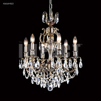 James R. Moder 40616S00 Brindisi 6 Light 21 inch Silver Chandelier Ceiling Light