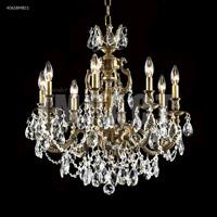 James R. Moder 40618MB11 Brindisi 8 Light 23 inch Monaco Bronze Crystal Chandelier Ceiling Light