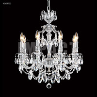 James R. Moder 40618S00 Brindisi 8 Light 23 inch Silver Chandelier Ceiling Light