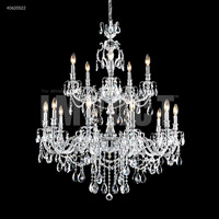 James R. Moder 40620S22 Brindisi Collection 15 Light 36 inch Silver Chandelier Ceiling Light
