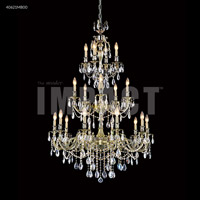 James R. Moder 40621MB00 Brindisi 20 Light 36 inch Monaco Bronze Entry Chandelier Ceiling Light