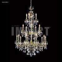 James R. Moder 40621MB11 Brindisi 20 Light 36 inch Monaco Bronze Entry Chandelier Ceiling Light Large