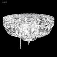 James R. Moder 40622S00 Gallery 1 Light 12 inch Silver Flush Mount Ceiling Light Fan Kit Version