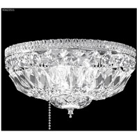 James R. Moder 40622S11 Gallery 1 Light 12 inch Silver Flush Mount Ceiling Light Fan Kit Version