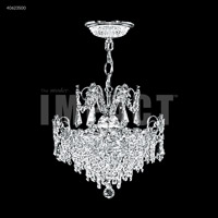 James R. Moder 40623S00 Mini Crystal Chandelier Collection 3 Light 14 inch Silver Mini Pendant Crystal Chandelier Ceiling Light