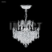 James R. Moder 40623S11 Mini Crystal Chandelier Collection 3 Light 14 inch Silver Mini Pendant Crystal Chandelier Ceiling Light