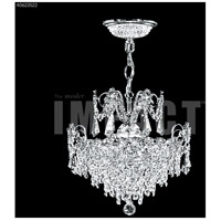 James R. Moder 40623S22 Mini Crystal Chandelier Collection 3 Light 14 inch Silver Mini Pendant Crystal Chandelier Ceiling Light